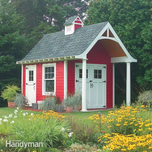 schoolhouse style storage building shed free plans