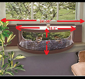 Panoramic In-Window Bird Feeder