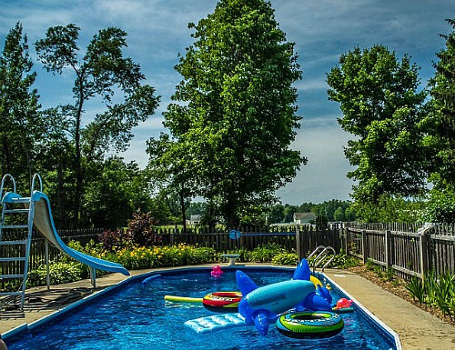 Family Backyard Pool Landscape
