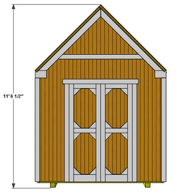 Gable Tool Shed Free Plan